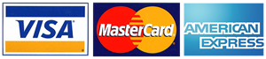 Master Card, VISA and AMEX